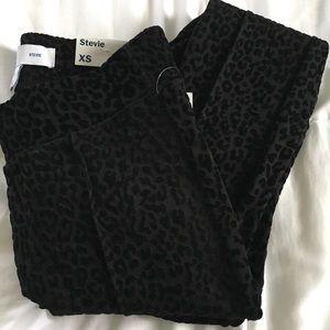 High rise Stevie ponte black leopard pants